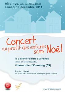 Affiche du concert au profit des enfants sans Noël 2011
