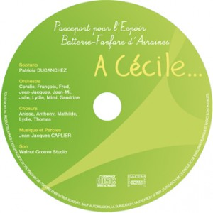 """Le CD """"A Cécile"""" avec l'école de musique de la Batterie-Fanfare d'Airaines"""