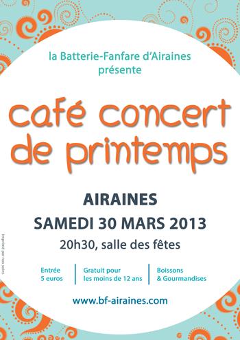 Affiche du concert de printemps 2013 avec la Batterie-Fanfare d'Airaines