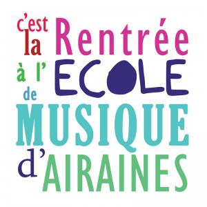 Affiche rentrée école de musique Airaines