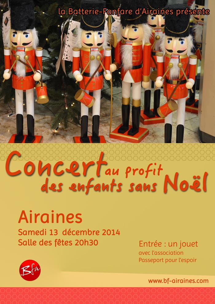 Affiche concert enfants sans Noël