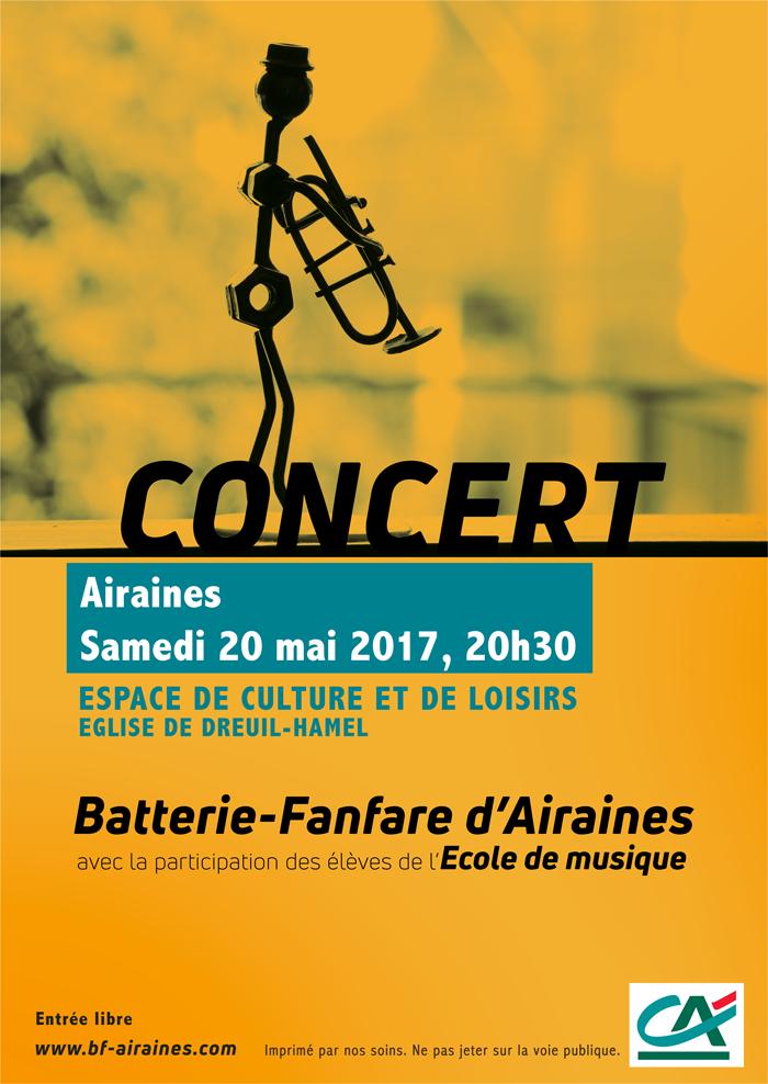 Affiche concert de printemps